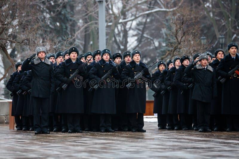 Formacja Prezydencki pułk usługa Moskwa Kremlin's Commandant zdjęcia royalty free