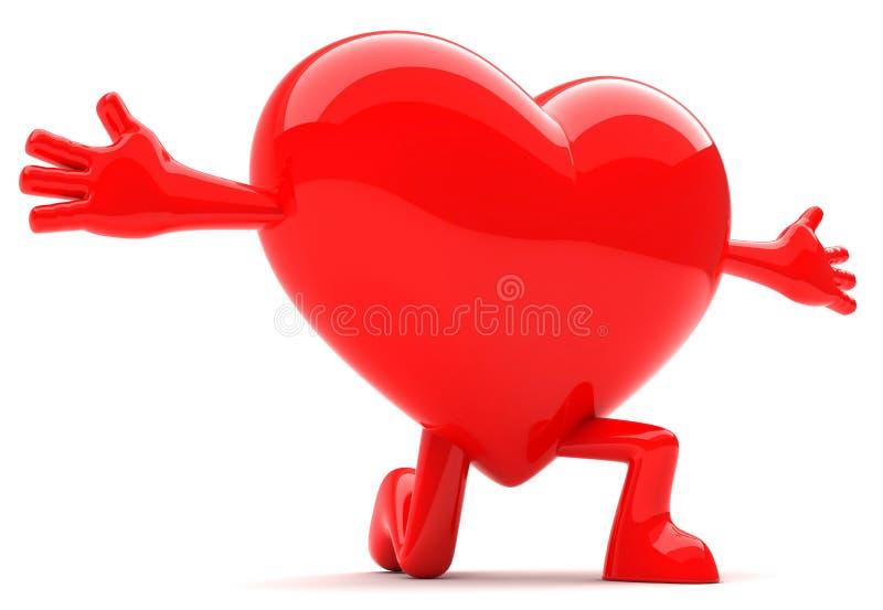 formad hjärtamaskot royaltyfria foton
