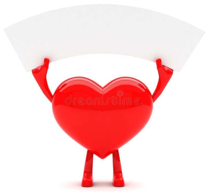 formad hjärtamaskot fotografering för bildbyråer