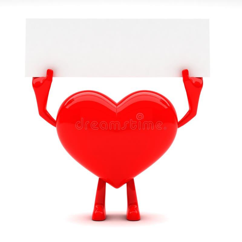 formad hjärtamaskot royaltyfri fotografi