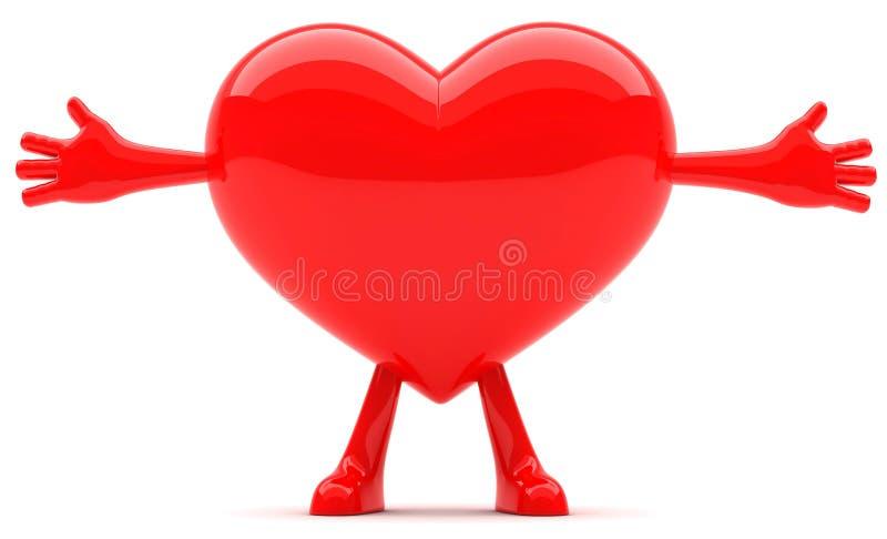 formad hjärtamaskot arkivfoton