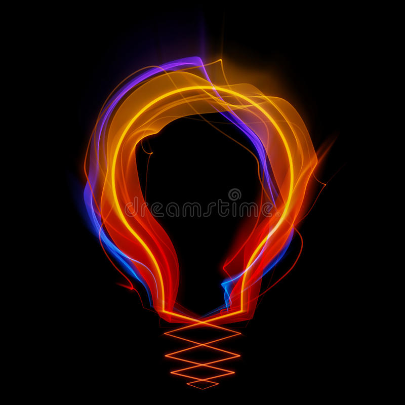 formade strimmor för lampa ljus form royaltyfri illustrationer