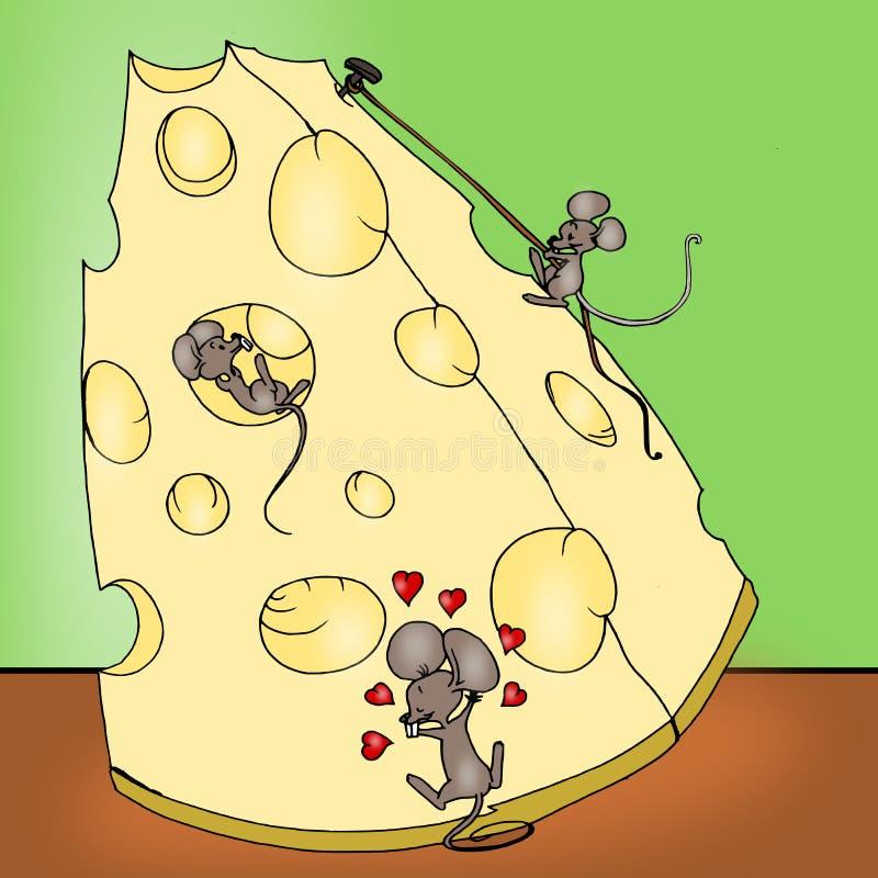 Formaggio dai mouse illustrazione vettoriale