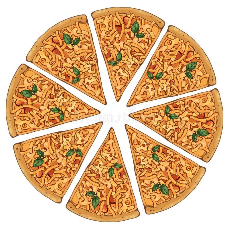 Formaggio della pizza illustrazione di stock