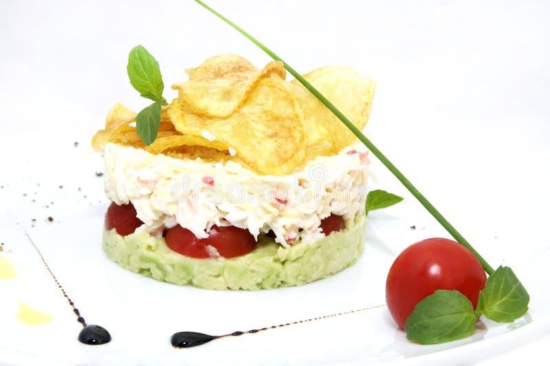 Formaggio e pomodoro dell'insalata del pisello fotografia stock libera da diritti