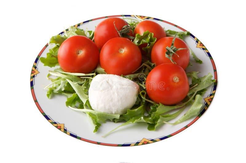 Formaggio e pomodoro della mozzarella fotografie stock