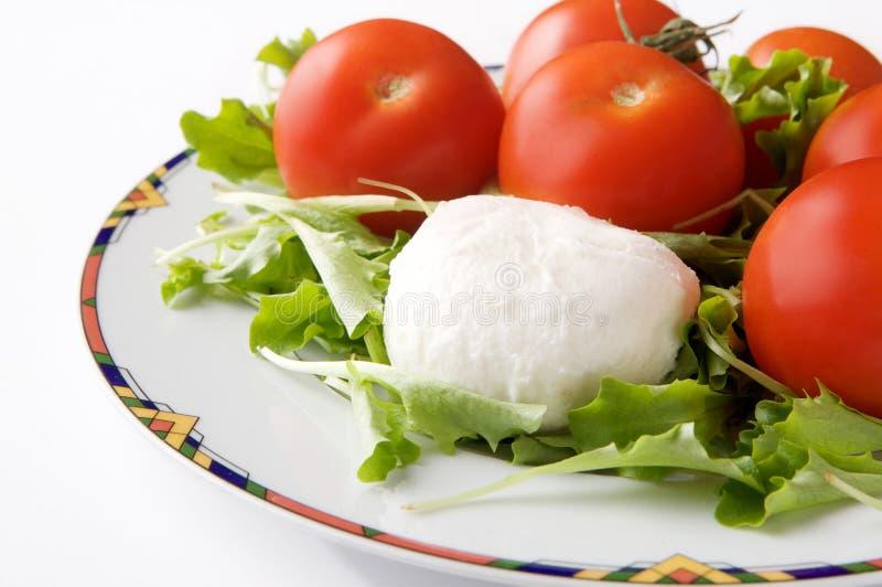 Formaggio e pomodoro della mozzarella immagini stock libere da diritti