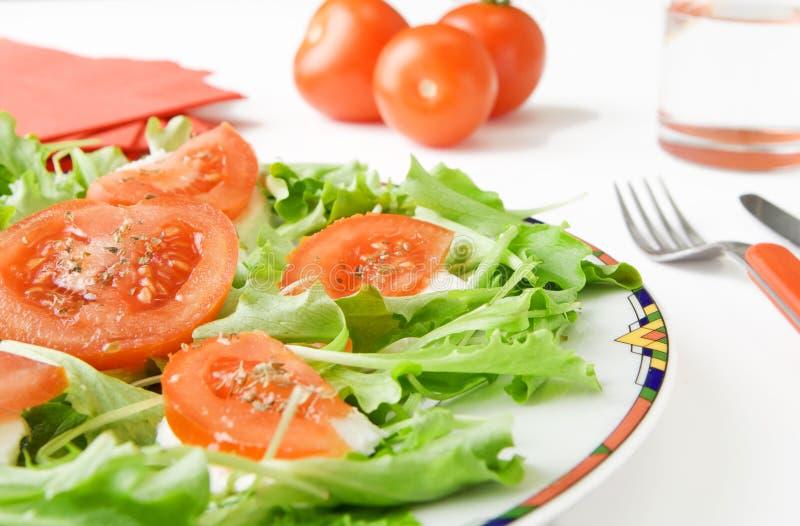 Formaggio e pomodoro della mozzarella fotografia stock