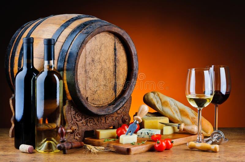 Formaggio e vino fotografie stock