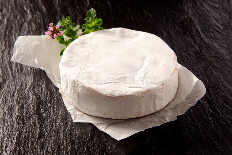 Formaggio maturo e tenero gastronomico del camembert fotografia stock libera da diritti