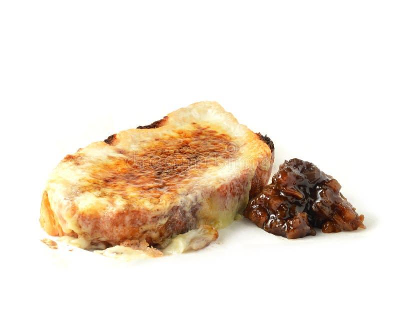 Formaggio su pane tostato (pane tostato e formaggio fuso) fotografia stock libera da diritti