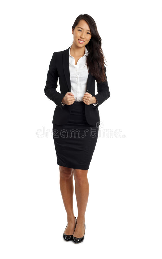 Formal Asian Business Woman. In formal suit royalty free stock photography