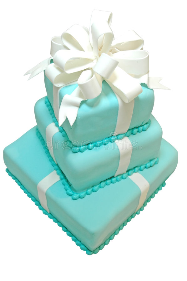 Formal Birthday Cake. Isolated on white background with clipping path stock photos
