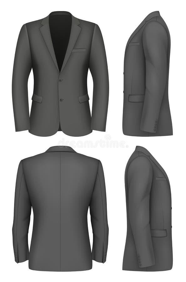Formal Business Suits Jacket for Men. stock illustration