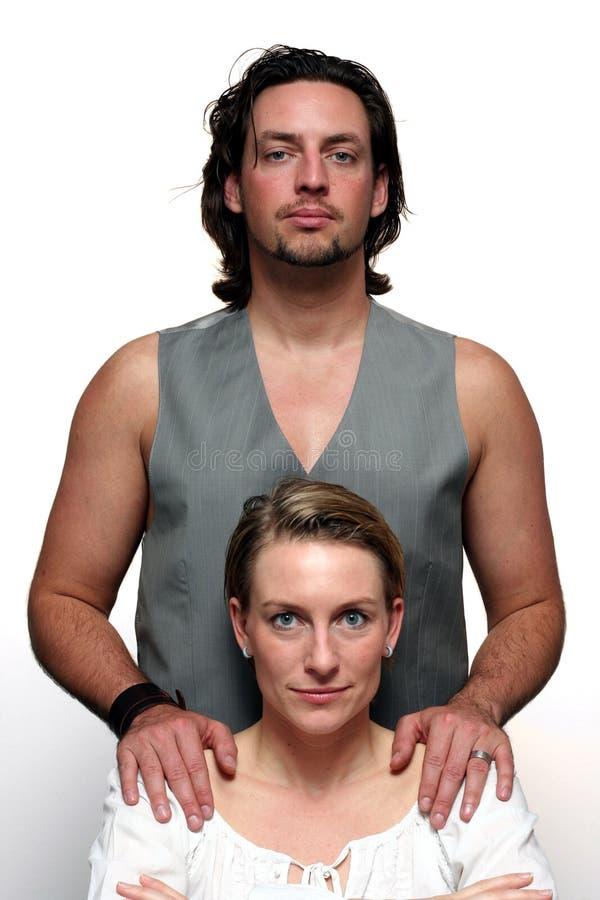 Formal couple portrait stock photo