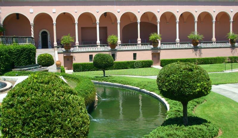 Formal courtyard stock photos