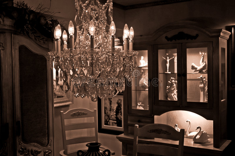 Formal dining area royalty free stock images