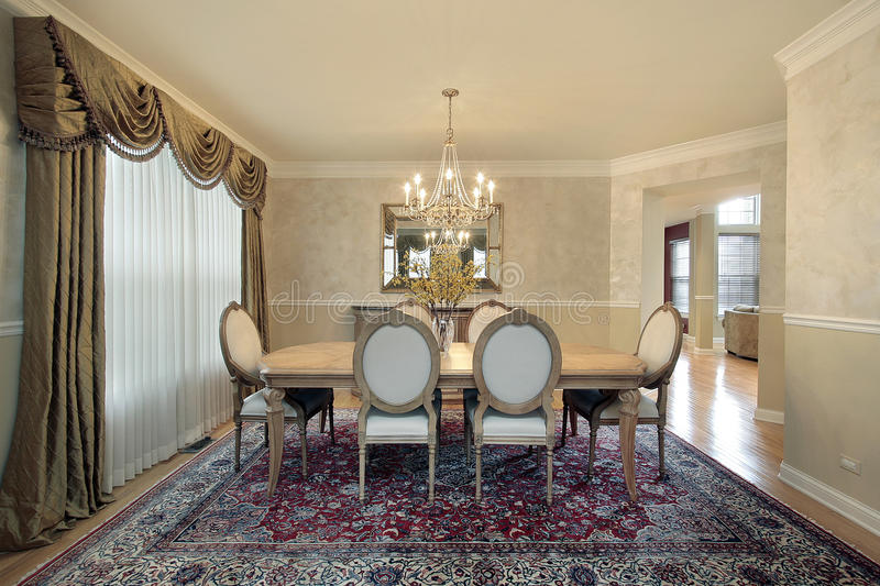 Formal dining room royalty free stock images