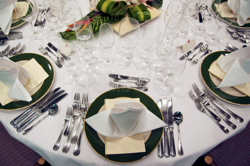 Formal Dinner Setting Stock Photo Image Of Napkin Fork
