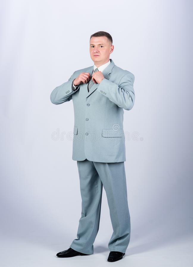 Formal fashion and dress code. confident man. Modern life. formal party or meeting. Business owner. man business suit. Businessman. Office life stock image