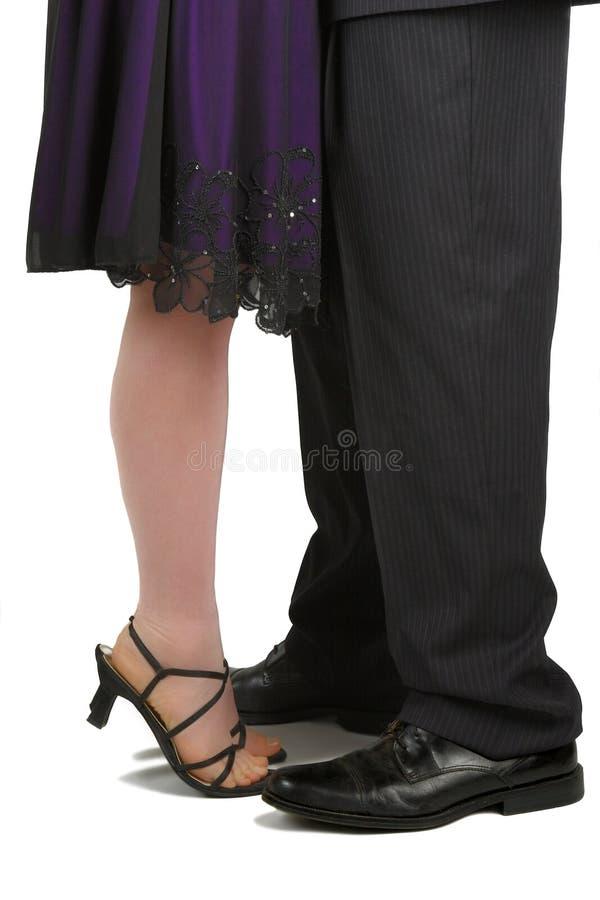 Formal feet. stock photography