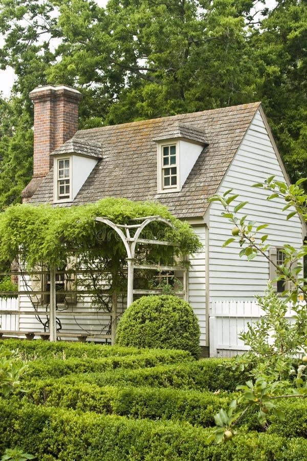 Formal Garden In Colonial Williamsburg Stock Photos