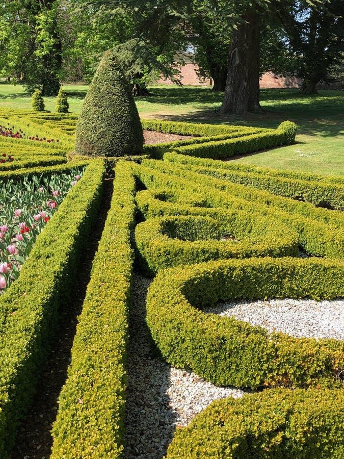 Formal garden at Sledmere House stock photos