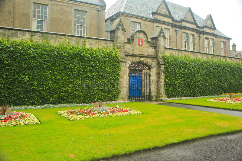 Formal Garden, University of St. Andrews, St. Andrews, Uk. stock photos