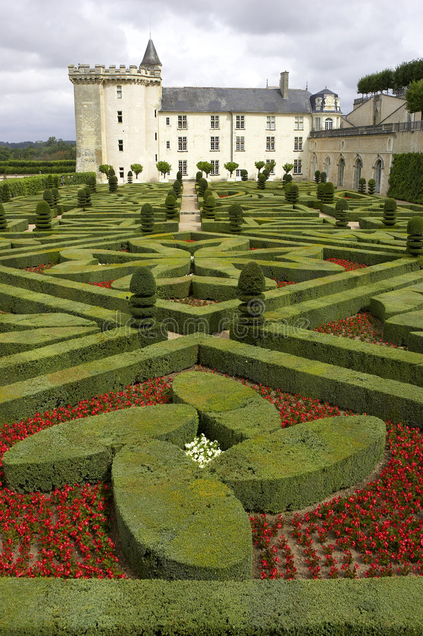 Free Formal Gardens At Chateau De Villandry, Loire Valley, France Royalty Free Stock Photo - 210075