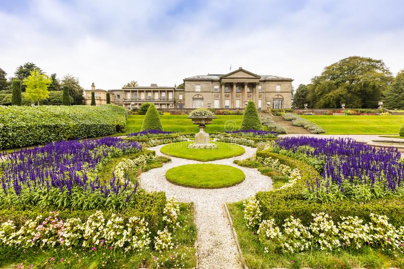 Landscaped gardens in Tatton Park. royalty free stock images
