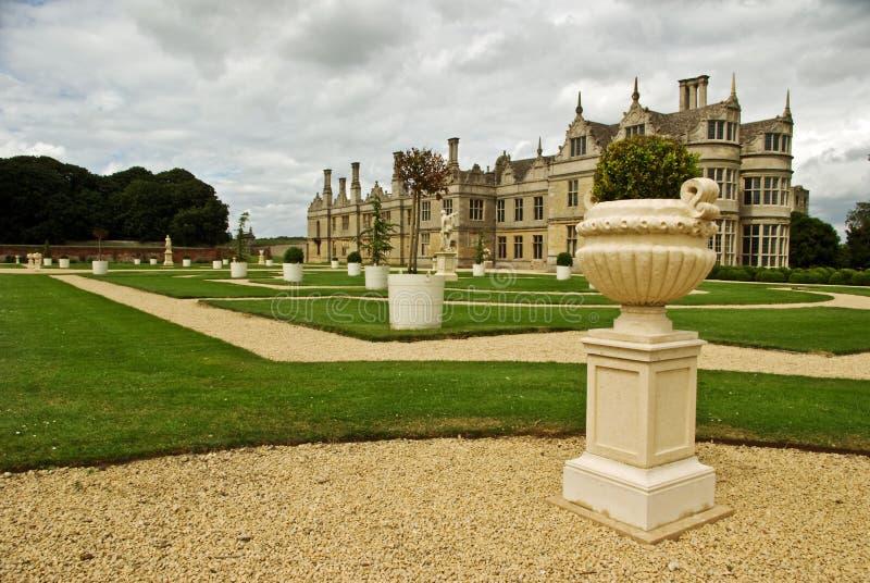Formal gardento an Elizabethan design royalty free stock image