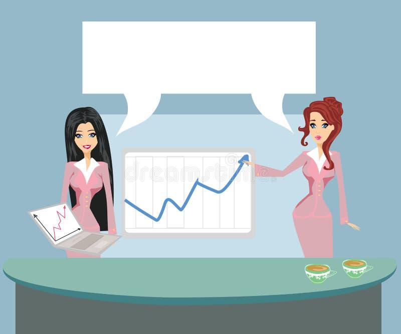 Formal gekleidete Leute im Büro, Geschäftsdarstellung stock abbildung