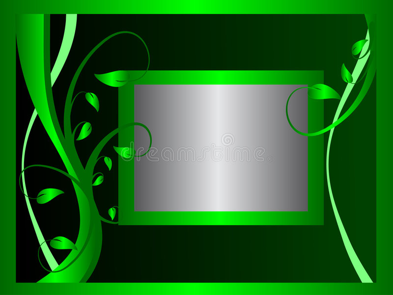 Download Formal Green Floral Background Stock Photo - Image: 6059310
