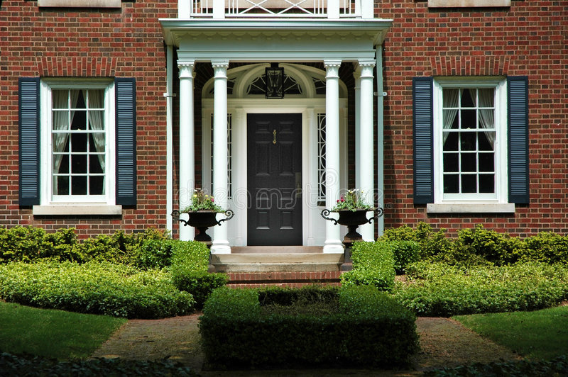 Formal Home Entrance stock image