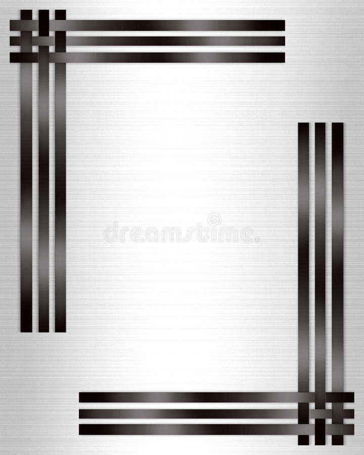 Formal Invitation template black white vector illustration