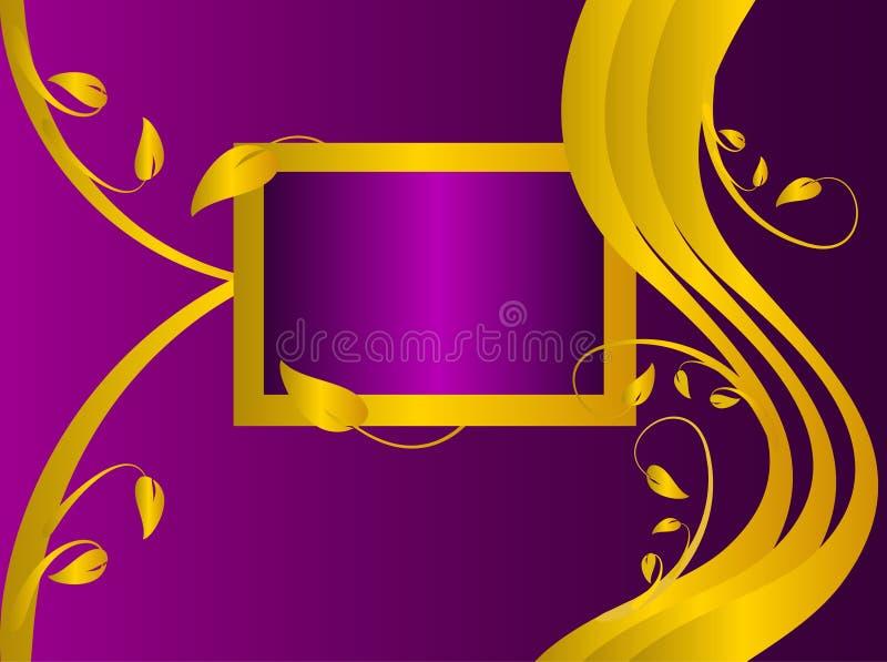 Formal Mauve Floral Background royalty free illustration