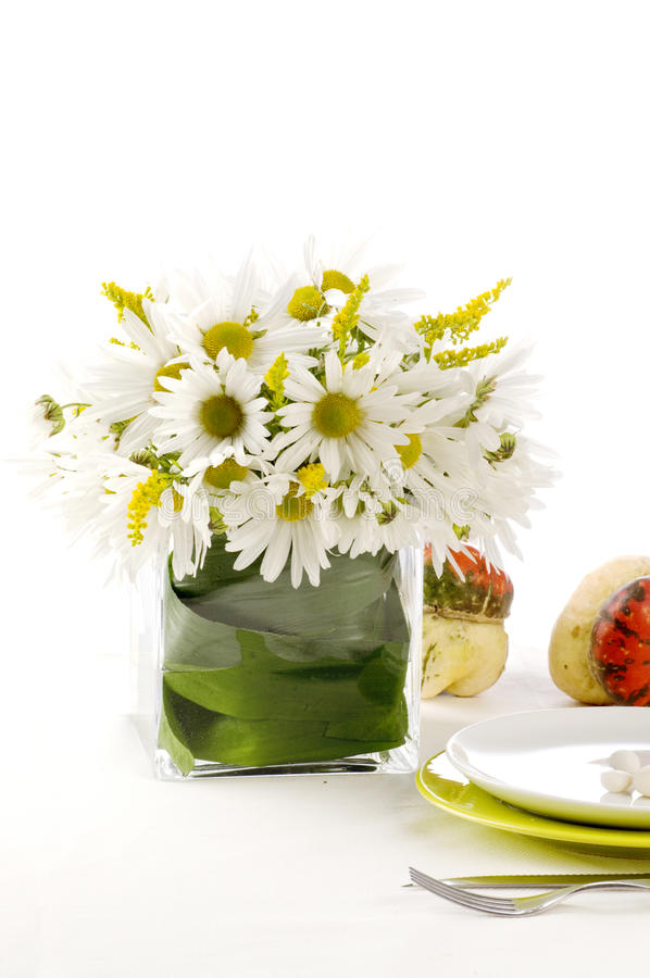 Download A formal place setting stock image. Image of daisies - 22565877
