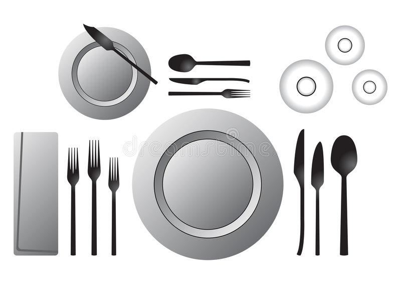 Download Formal table stock vector. Image of glass, knife, form - 4682266