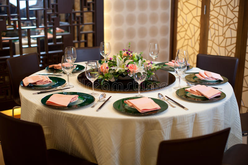 formal table setting formal table setting with flower decoration stock photo 29796