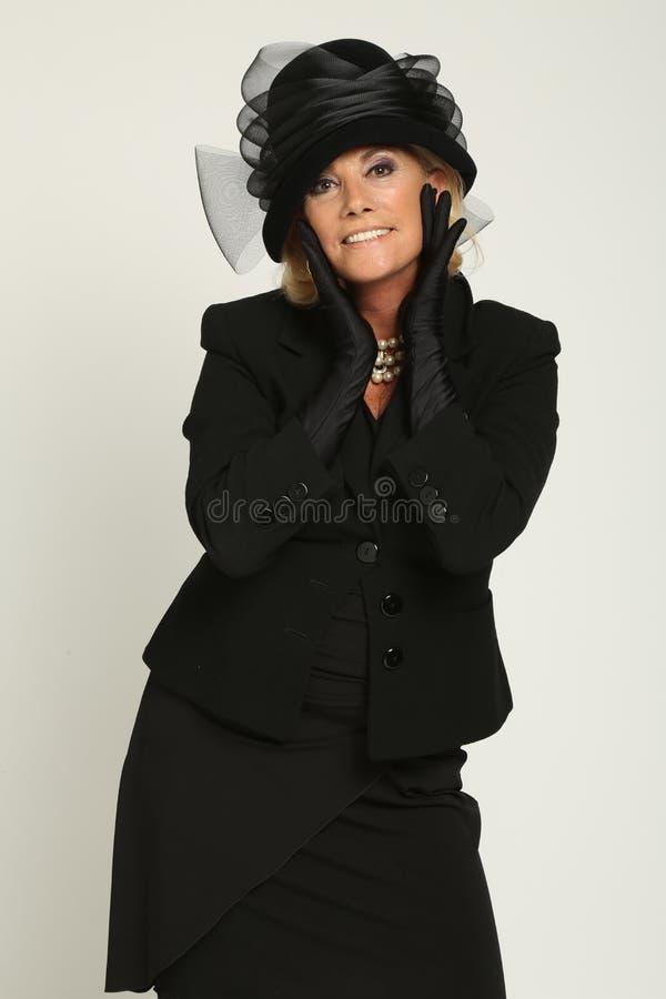 Formal Wear, Fashion, Fashion Model, Headgear stock photo