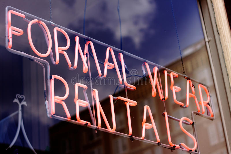 Download Formal Wear Rental Sign stock image. Image of sign, groomsmen - 31197067