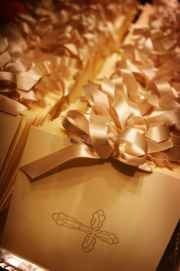 Formal wedding programs. An image of formal wedding programs royalty free stock photos
