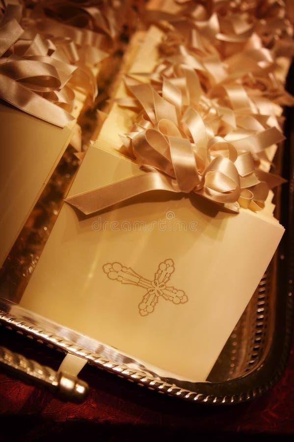 Formal wedding programs. An image of formal wedding programs stock image