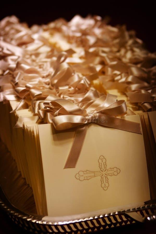 Formal wedding programs. An image of formal wedding programs stock photos