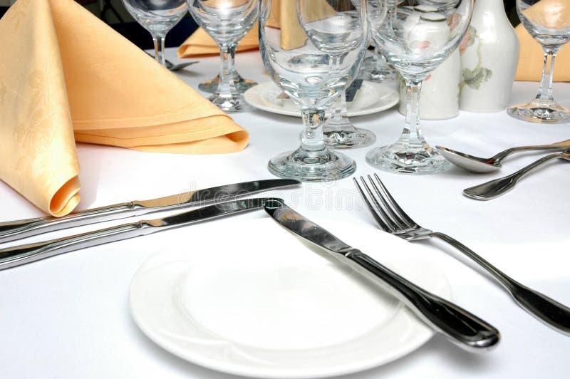 Formale Abendessen-Einstellung stockfotografie