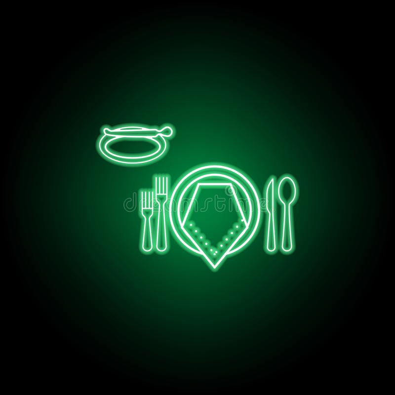 Formale Abendessenikone Kann f?r Netz, Logo, mobiler App, UI, UX verwendet werden vektor abbildung