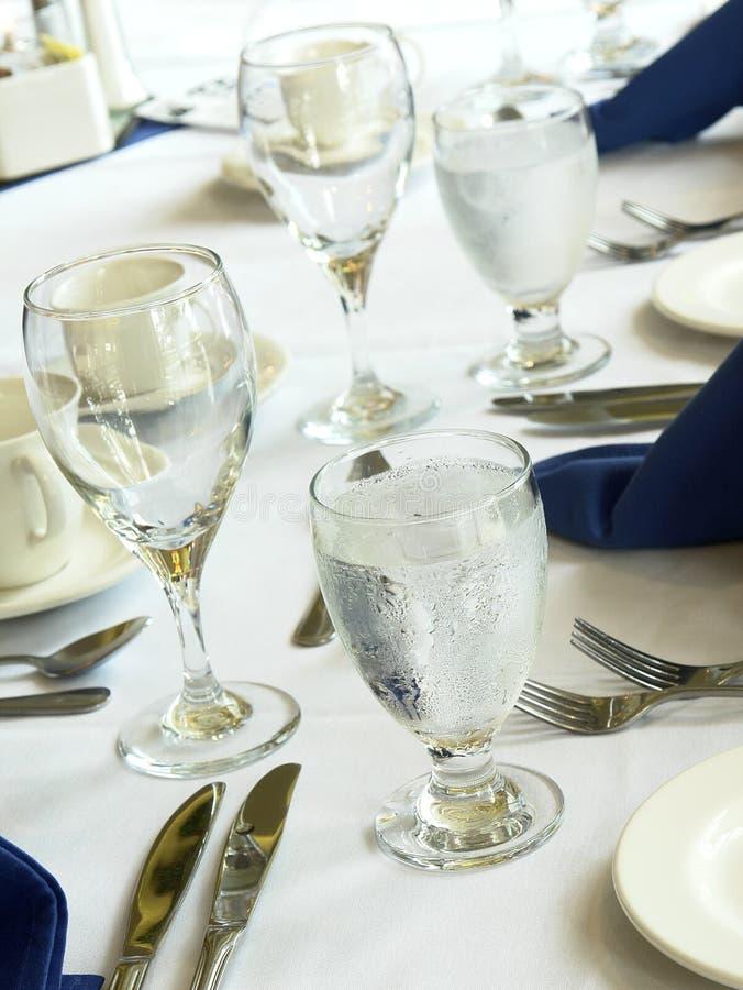 Formale Bankett-Tabellen-Hochzeit lizenzfreies stockfoto