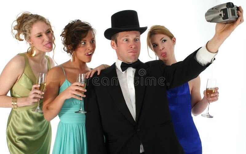 Formale Gruppe mit Kamera lizenzfreies stockfoto