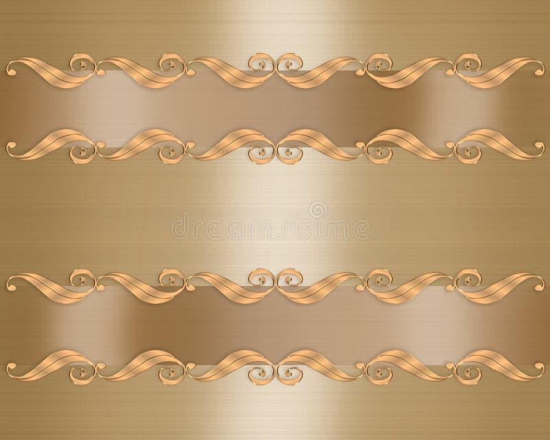 Formaler Einladung Goldrand Stock Abbildung - Illustration von ...