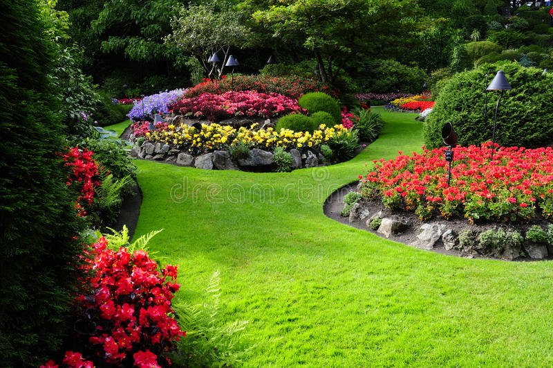 Formaler Garten lizenzfreie stockfotos
